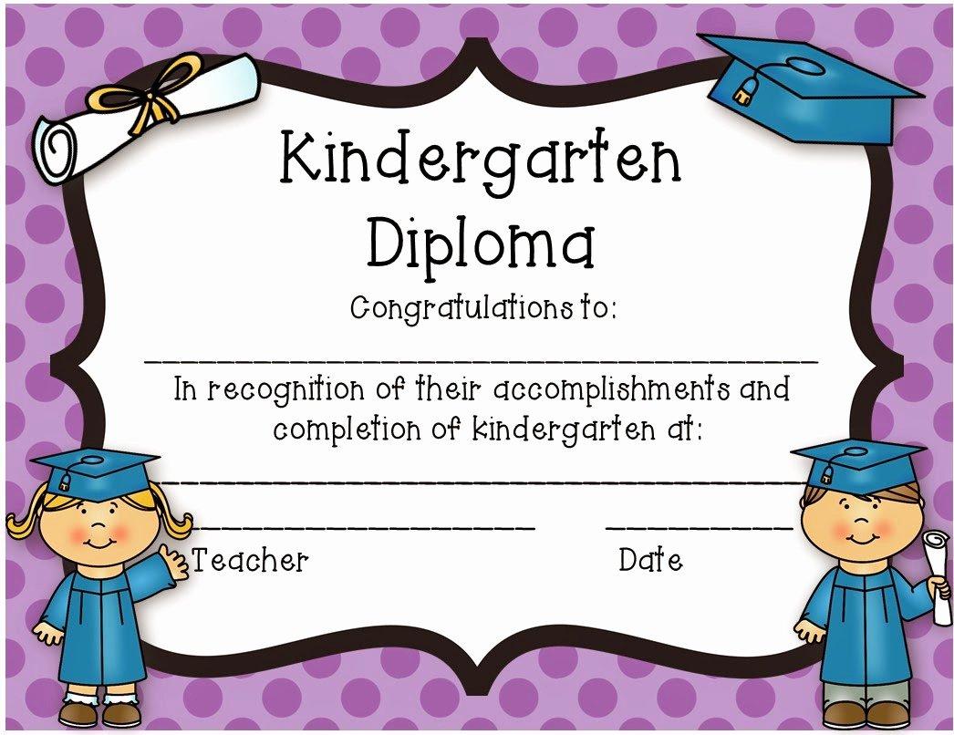 Diploma Preschool Diploma Template