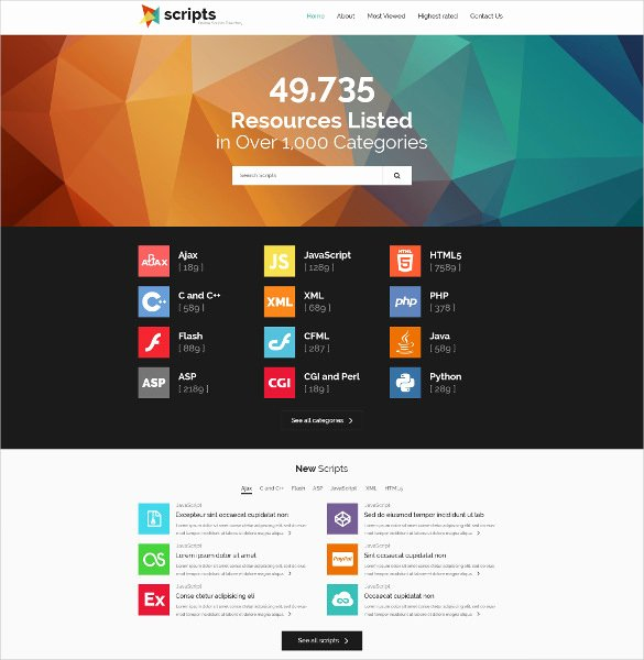 Directory Listing Template Free Download Templates
