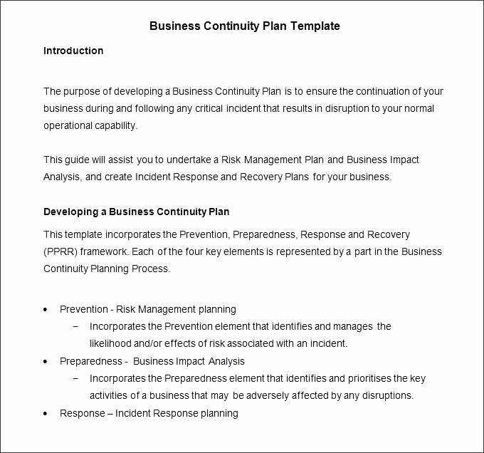 disaster recovery plan template for small business continuity simple uk