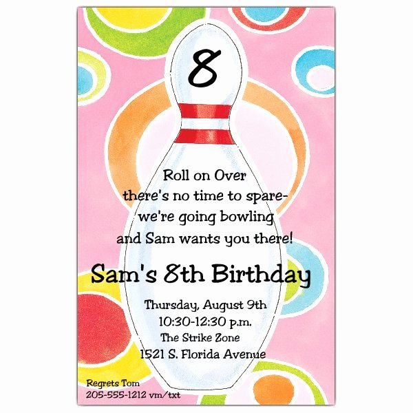 Disco Dots Bowling Invitations