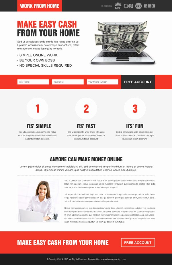 Discount On Responsive Landing Page Design Templates