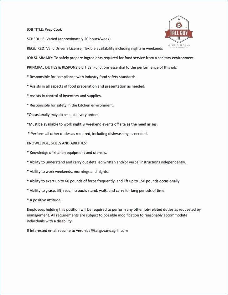 Dishwasher Job Description for Resume Unique Sample Resume