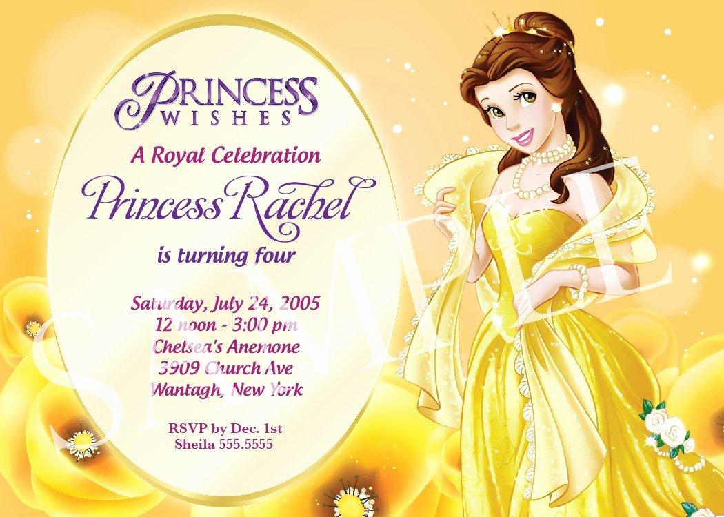 Disney Birthday Invitations Template