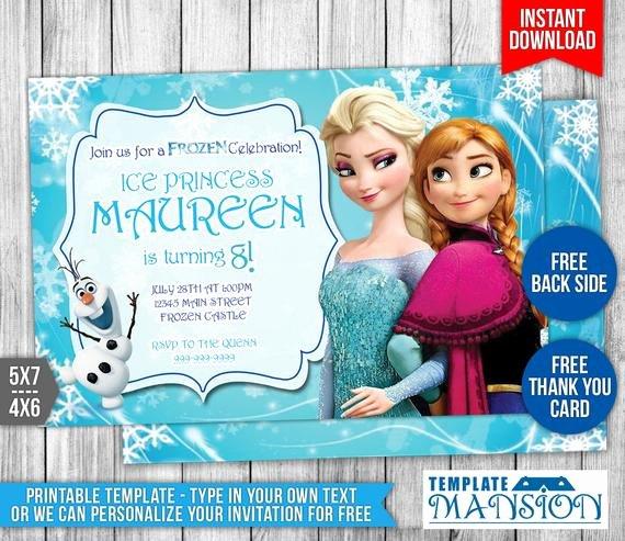Disney Frozen Invitation Disney Frozen Birthday by