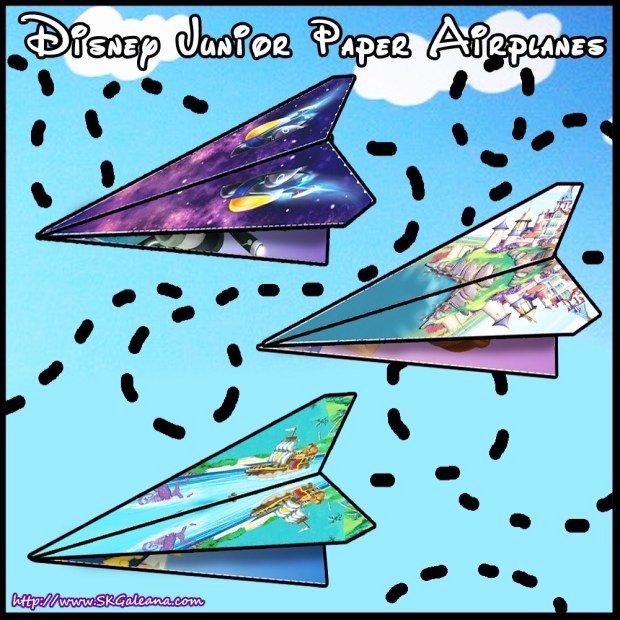 Disney Junior Printable Paper Airplane Templates