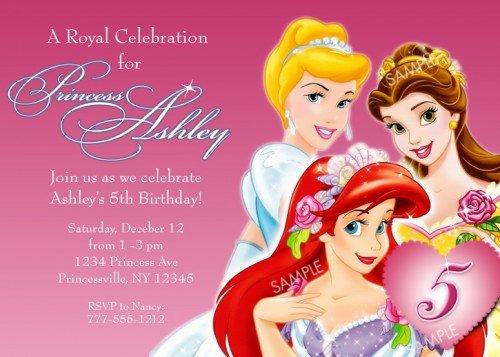 Disney Princess for Girl Birthday Invitations Ideas – Free