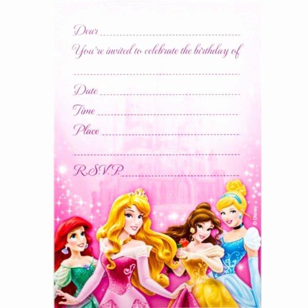 Disney Princess Invitation Templates Invitation Template