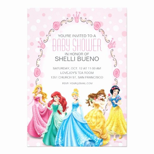 Disney Princess It S A Girl Baby Shower Card