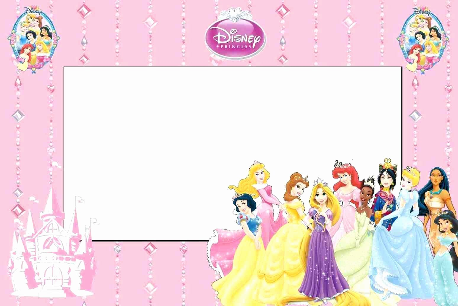 Disney Princess Party Invitations Template