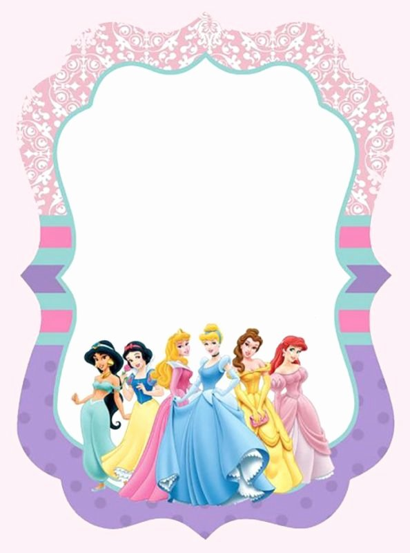 Disney Princesses Invitation Template Free Printable
