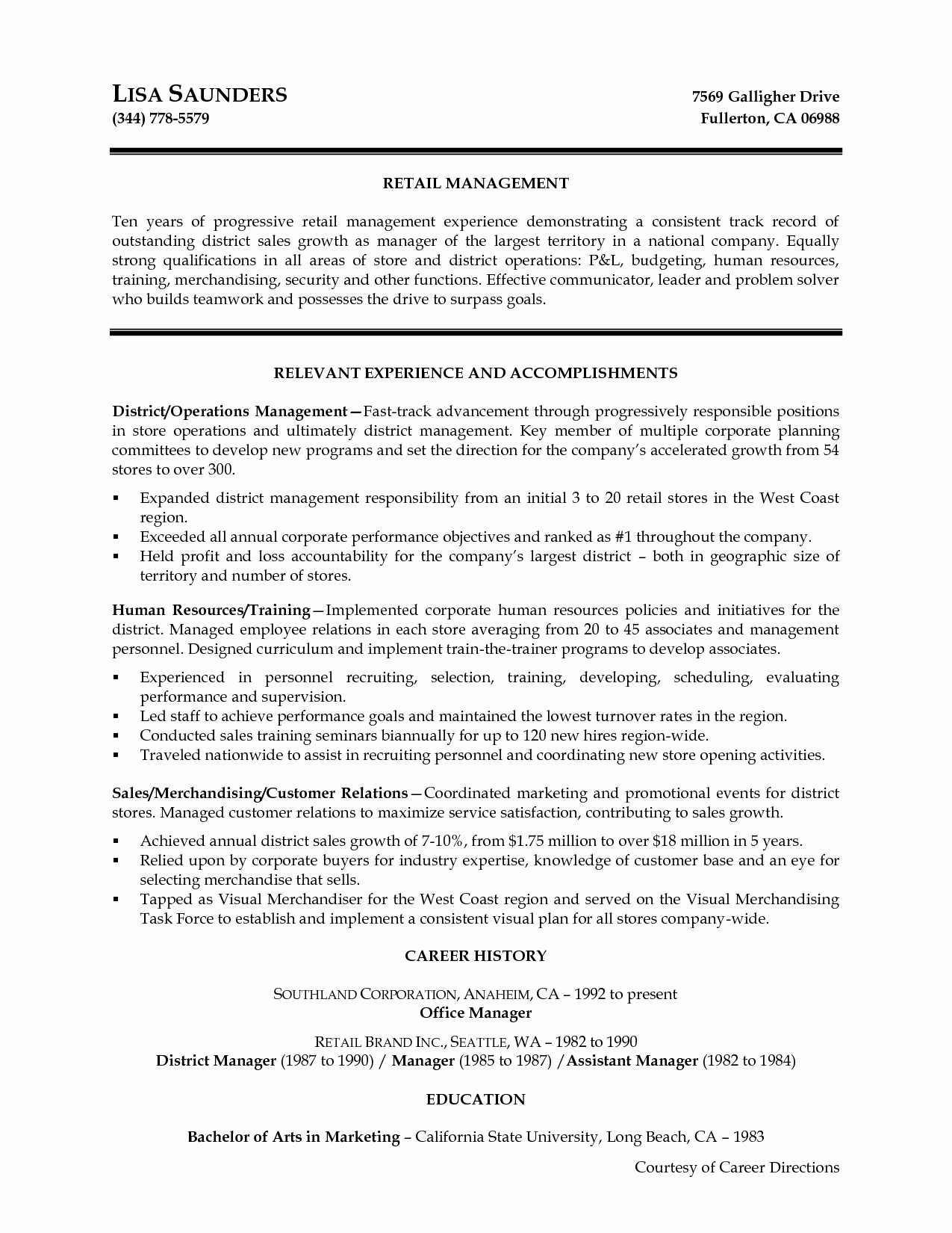 District Manager Cover Letter Templates