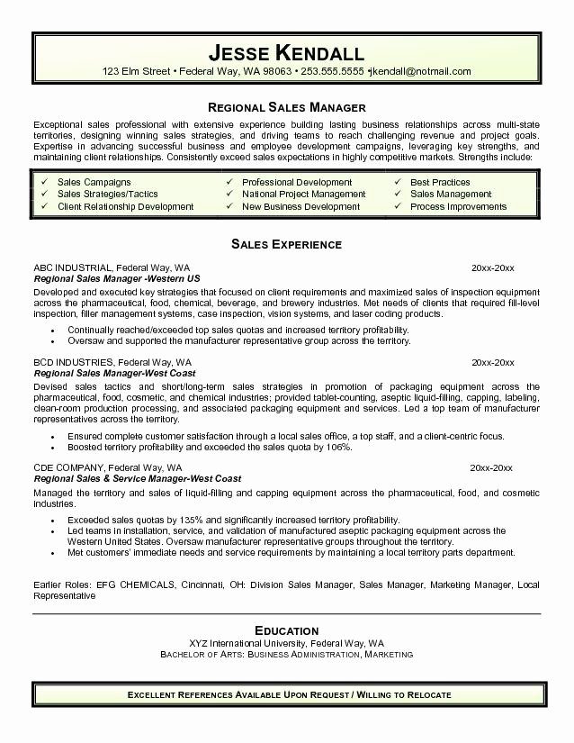 District Sales Manager Resume Resume Ideas