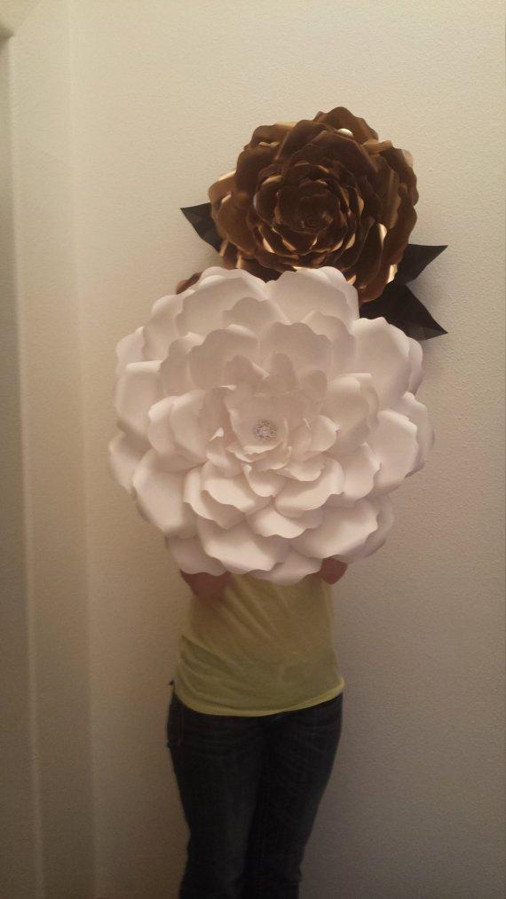 Diy 3d Paper Flower Template Paper Flower Stencil
