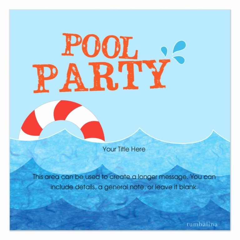 Diy A Simple Pool Party Invitations Not for A Birthday