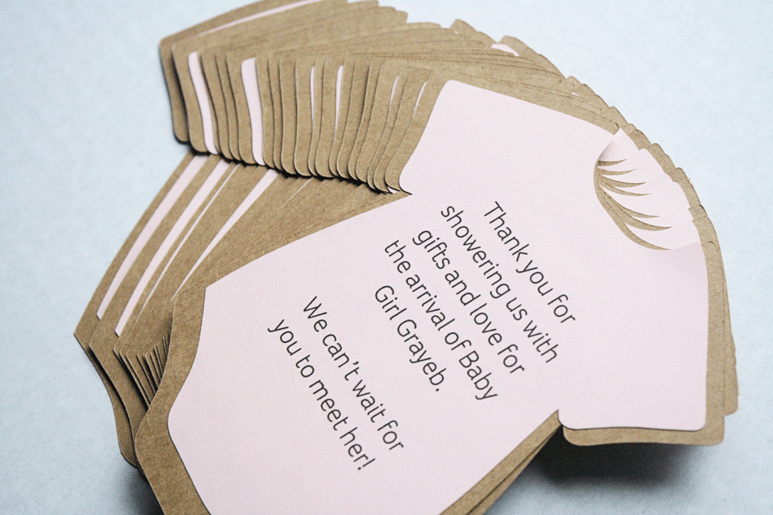 Diy Baby Shower Invitations or Thank You Cards