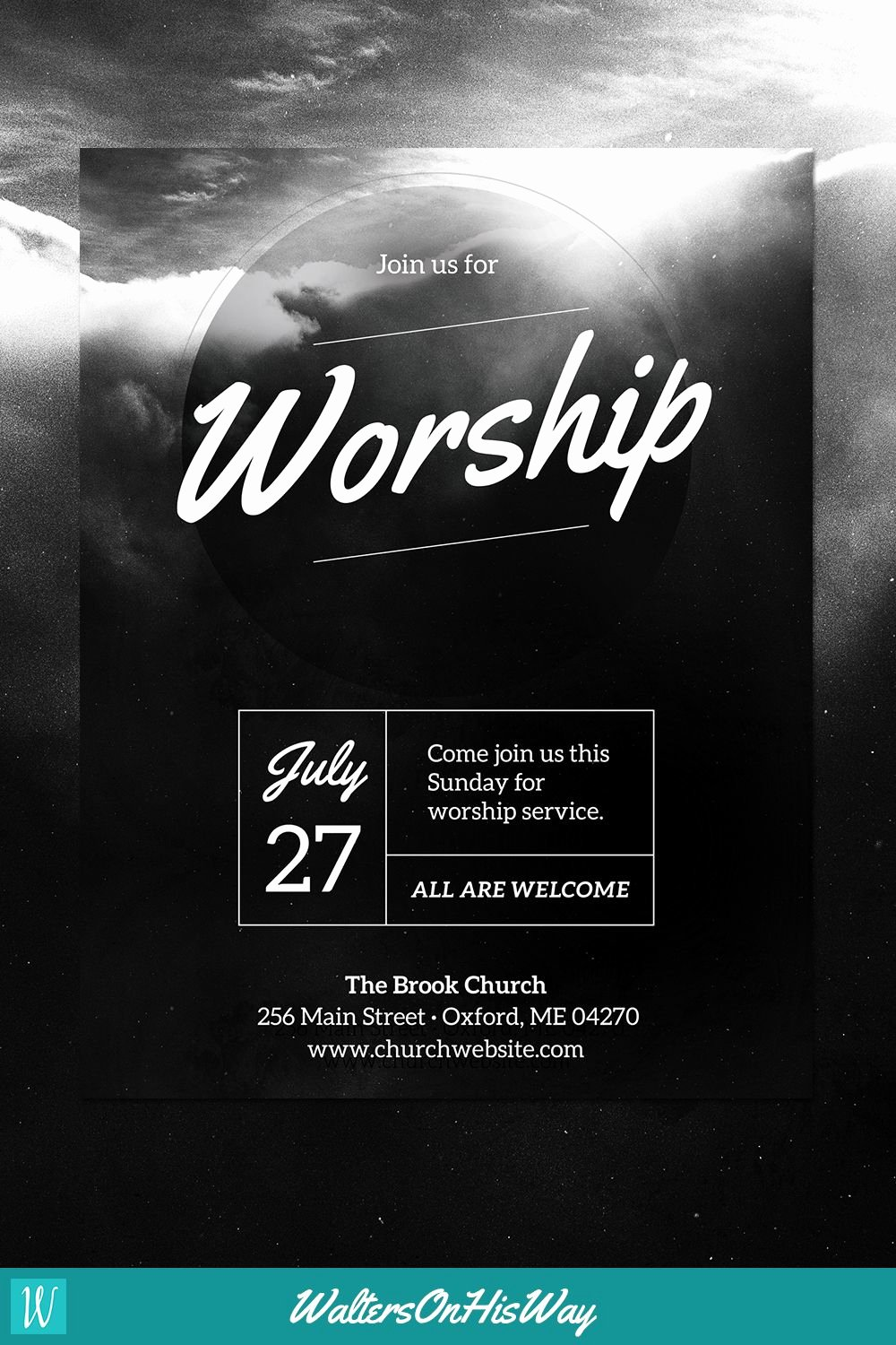 Diy Church event Flyer Template Heavenly Worship for