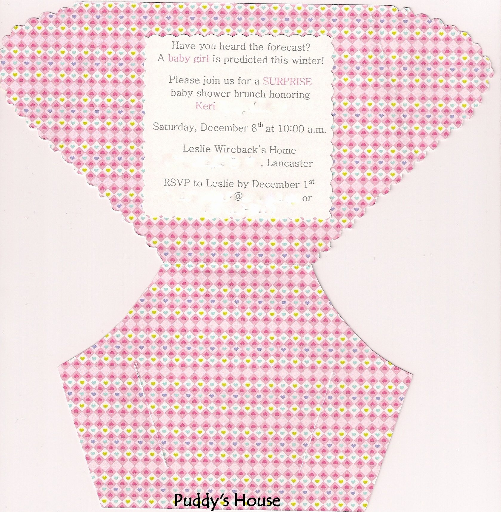 Diy Diaper Invitation – Puddy S House