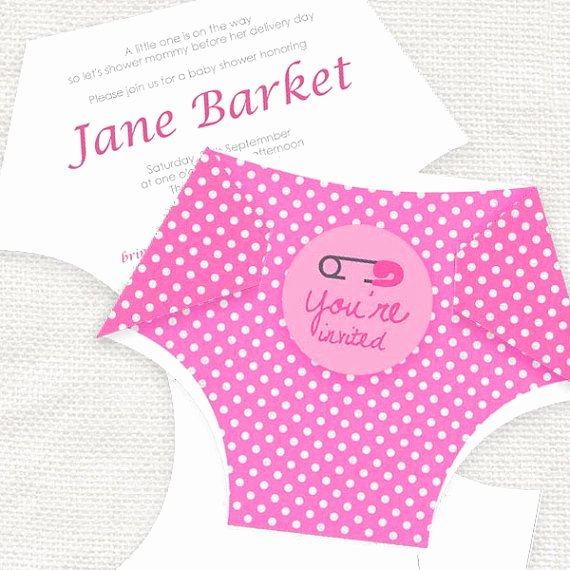 Diy Diaper Printable Baby Shower Invitation Template by