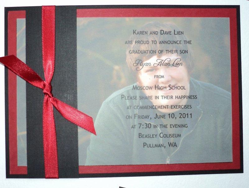 Diy High School Graduation Announcements
