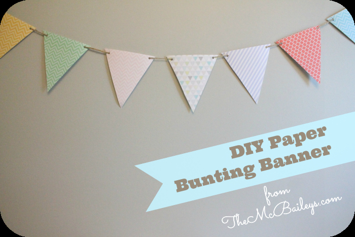 Diy Paper Bunting Pendant Banner