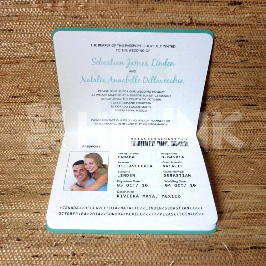 Diy Passport Style Wedding Invitations Destination