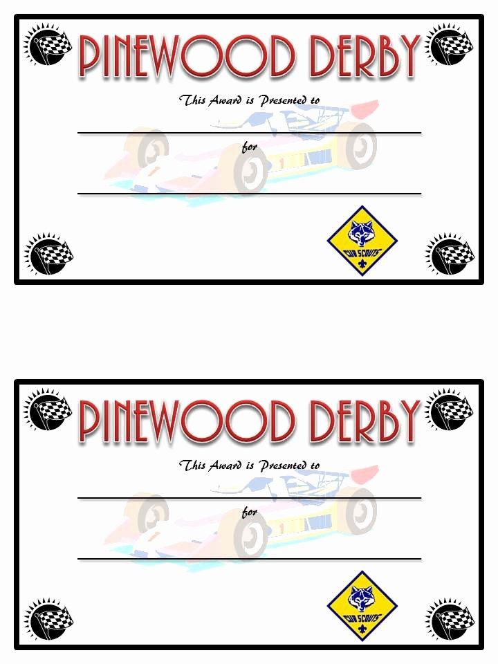 Diy Pinewood Derby Trophies and Certificates Sugar Bee