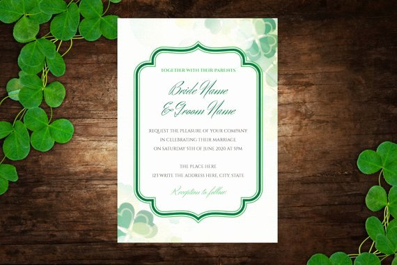 Diy Printable 5x7 Wedding Invitation Template Wedding