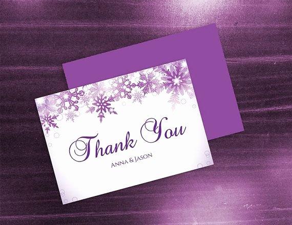 Diy Printable Wedding Thank You Card Template