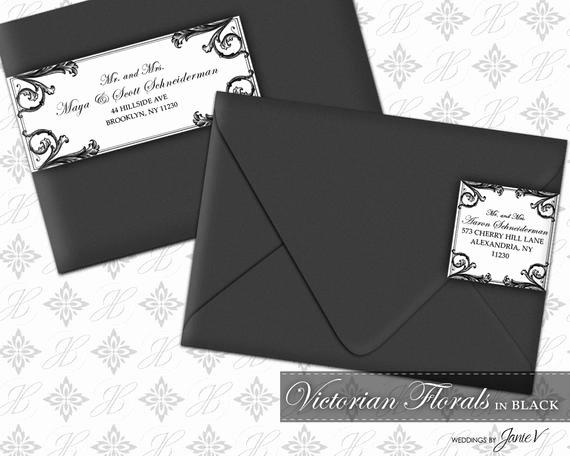 Diy Printable Wedding Wrap Around Address Label Template