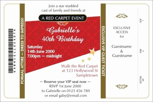 Diy Red Carpet Invitations