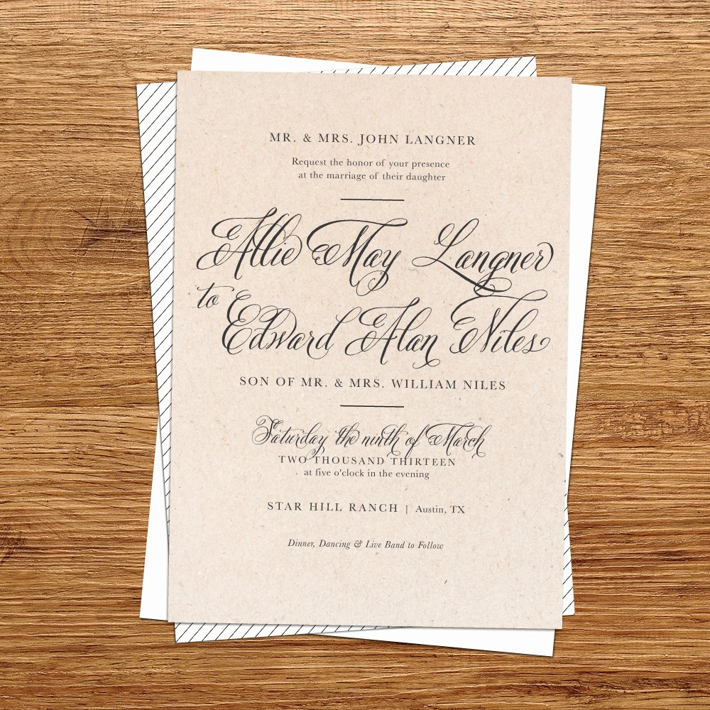 Diy Rustic Wedding Invitations Template