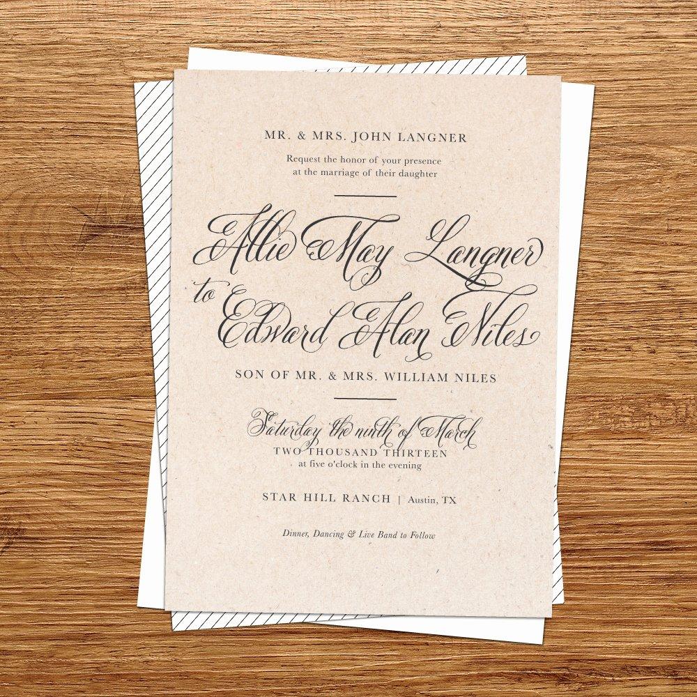 Diy Rustic Wedding Invitations Template