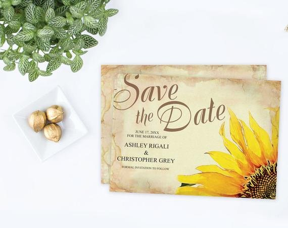Diy Save the Date Ms Word Template Editable Text Rustic