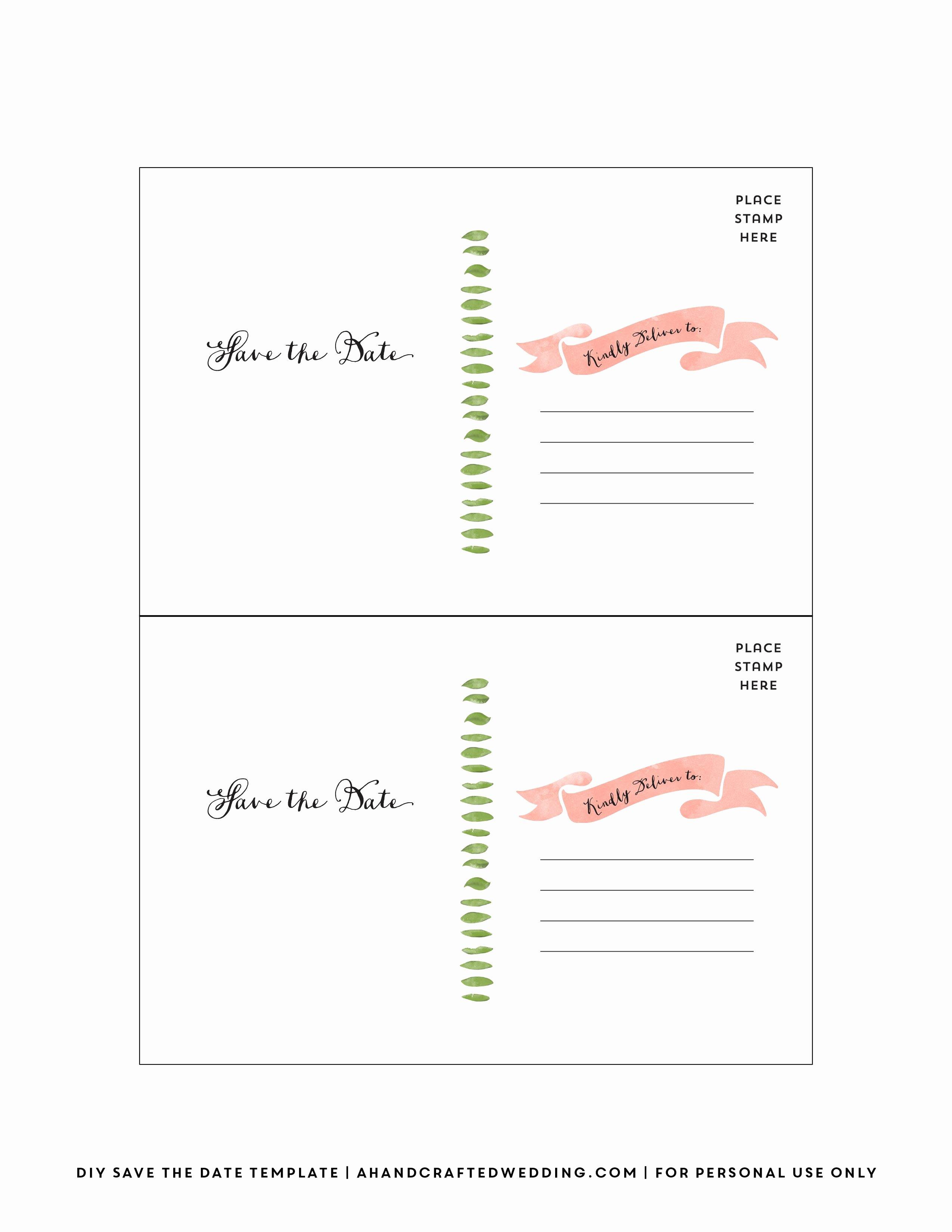 free printable diy save the date postcard