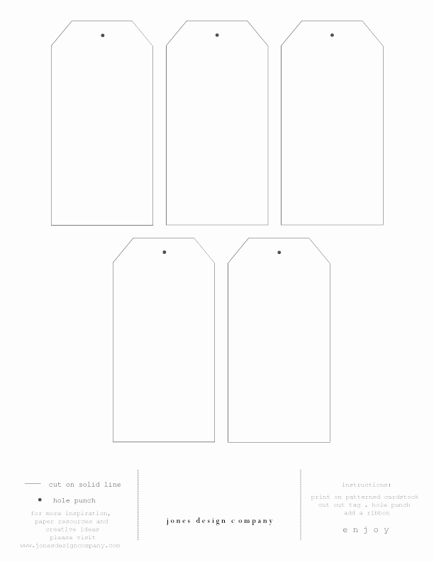 Diy T Tags Free Template and Printable Paper