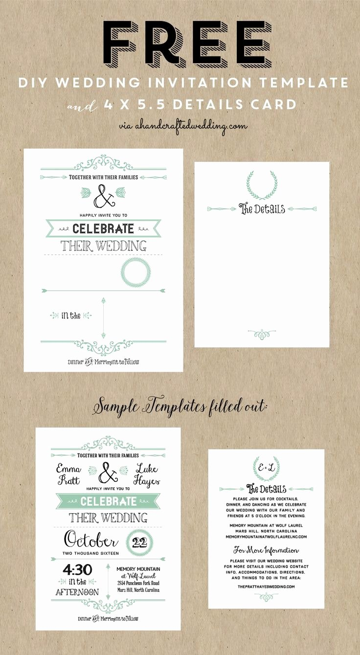 Diy Wedding Invitations Templates
