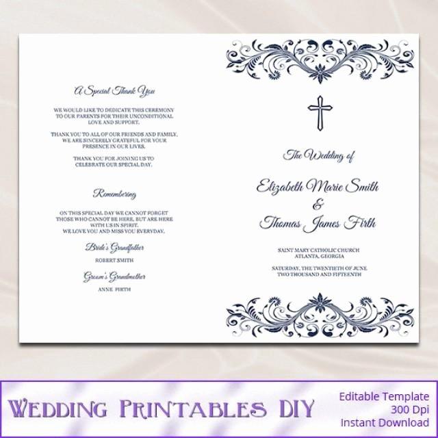 Diy Wedding Program Booklet Template Templates Resume