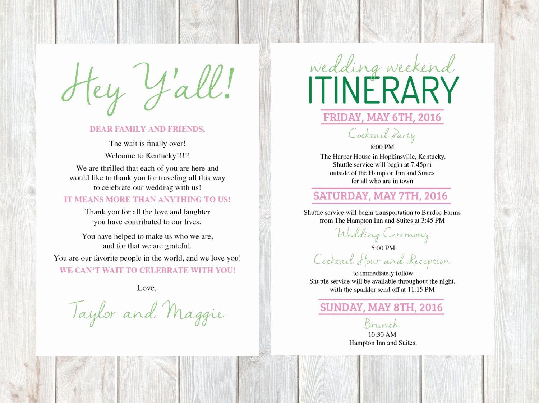 Diy Wedding Wel E Letter Template