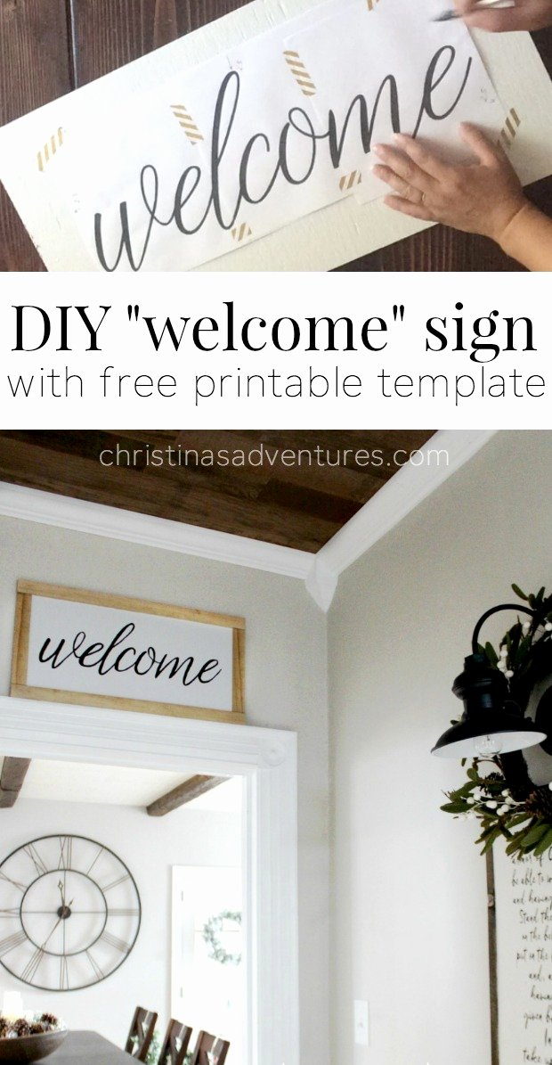 Diy Wel E Sign Christinas Adventures