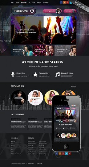 Dj Music Bootstrap Template Id From Bootstrap