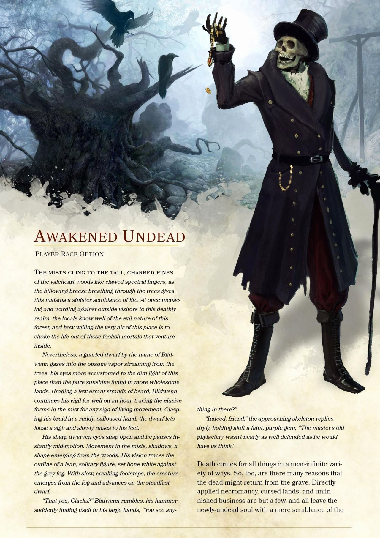 Dnd 5e Homebrew Awakened Undead Race by the Singular