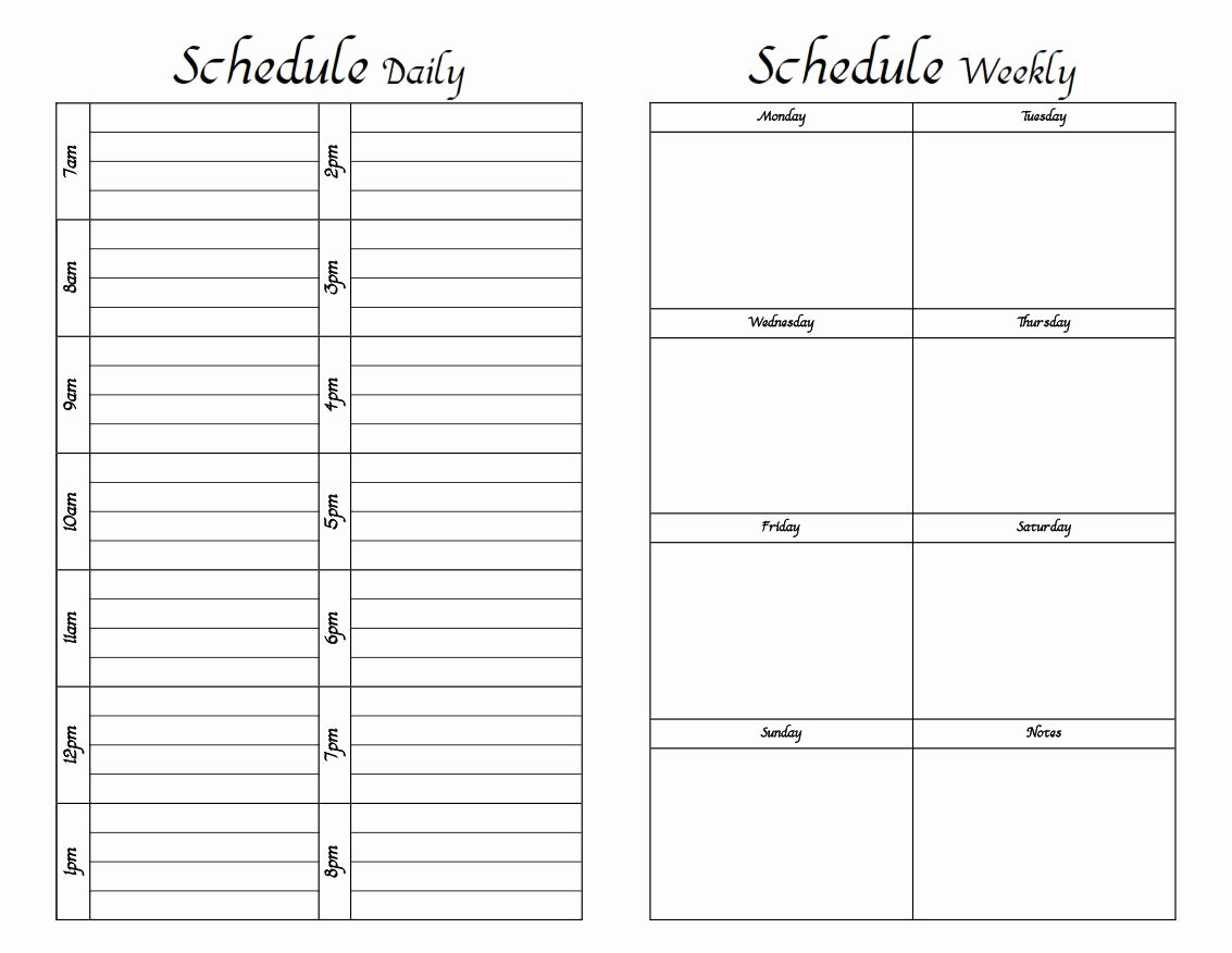 Do It Yourself Printable Weekly Planner Fun with Printer