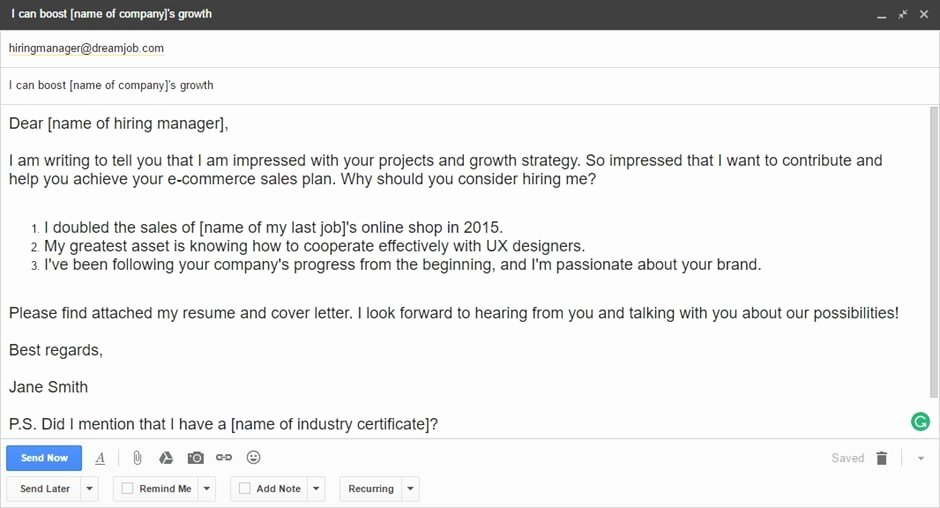Do You Send Cover Letter In Body Email