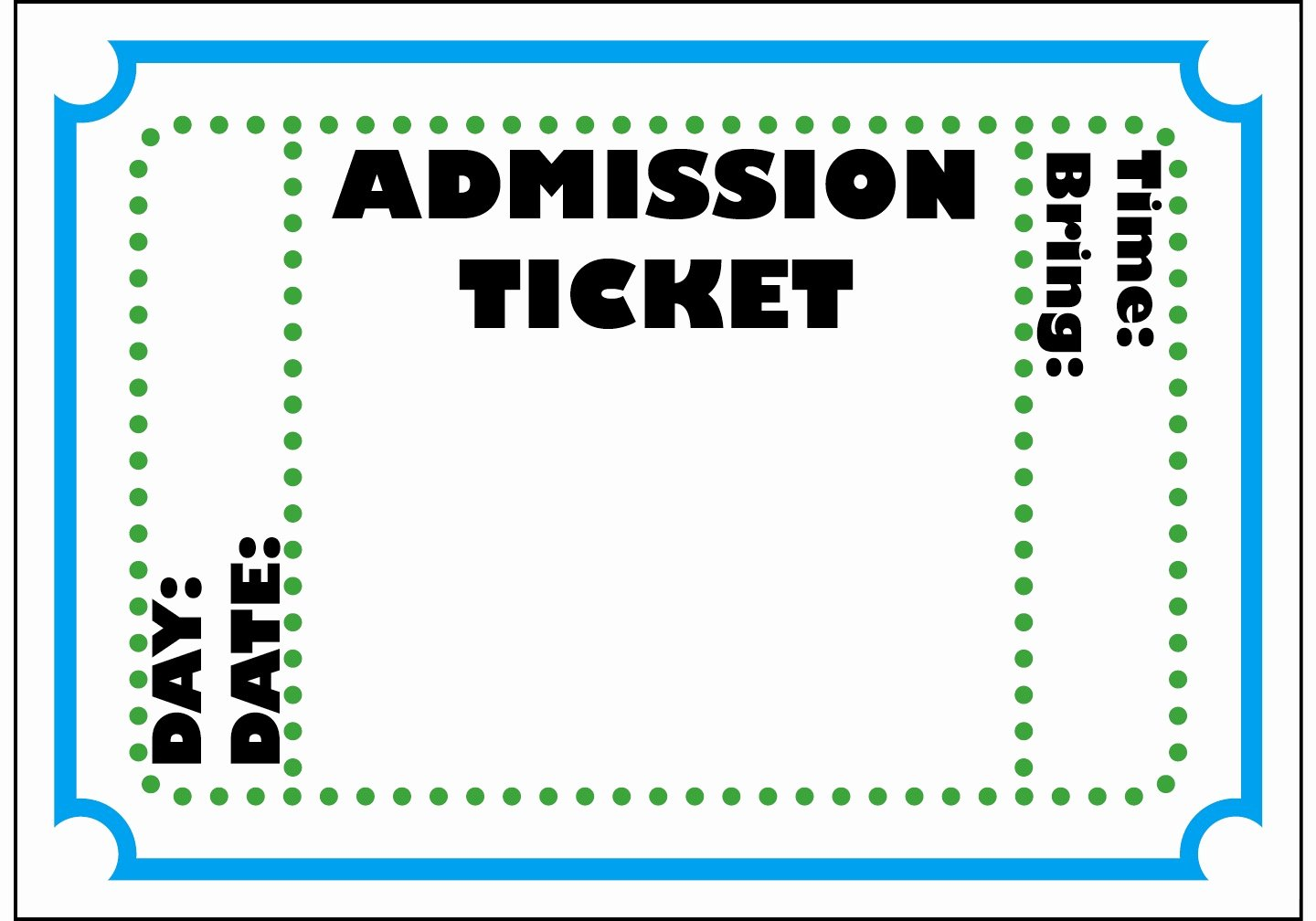 Doc Free event Ticket Template Microsoft Word