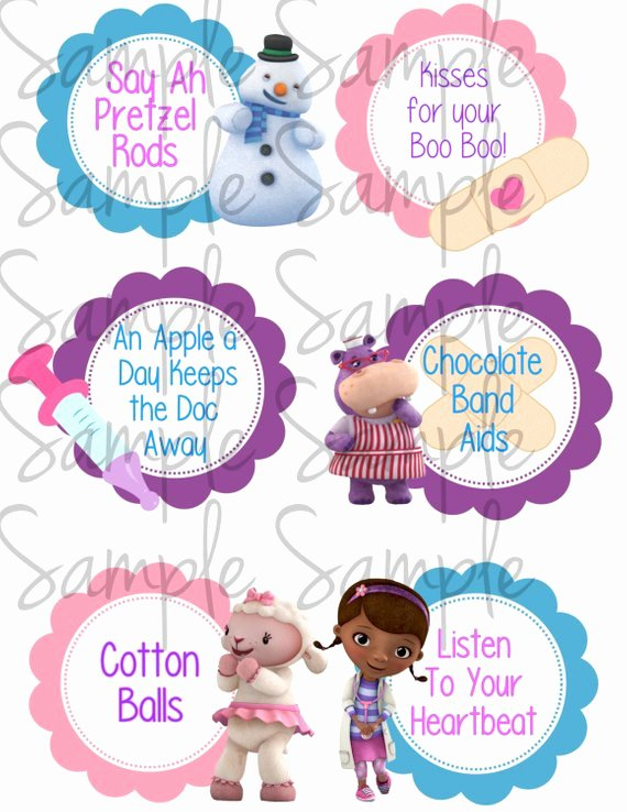 Doc Mcstuffins Label Templates to Pin On