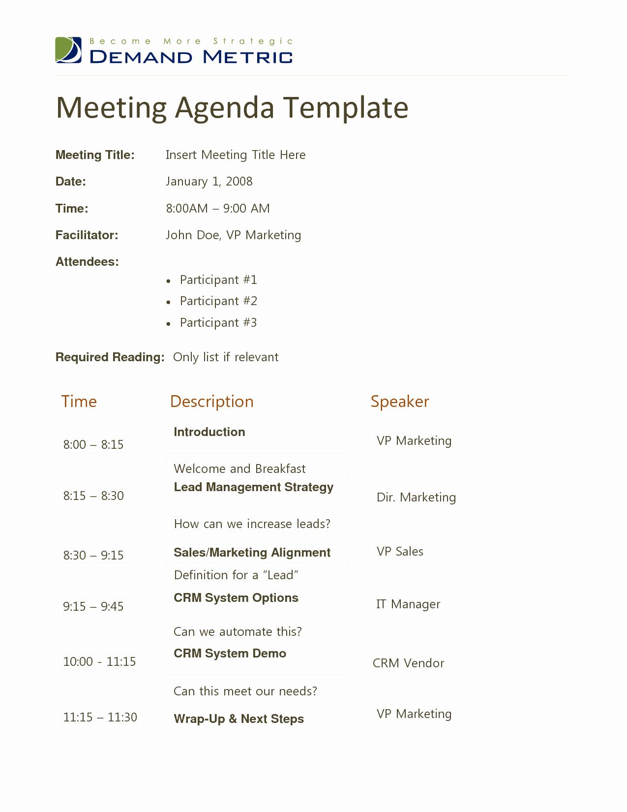 Docstoc Meeting Agenda Template Doc