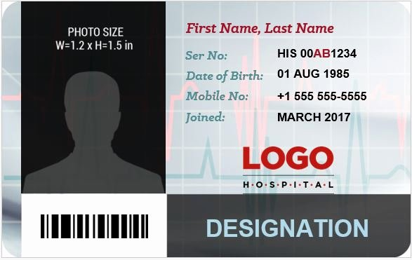 Doctor S Id Badge Templates for Ms Word