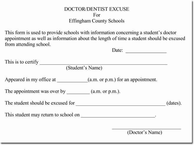 doctors note templates