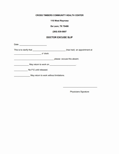 Doctors Note for Work Template Download Create Fill and