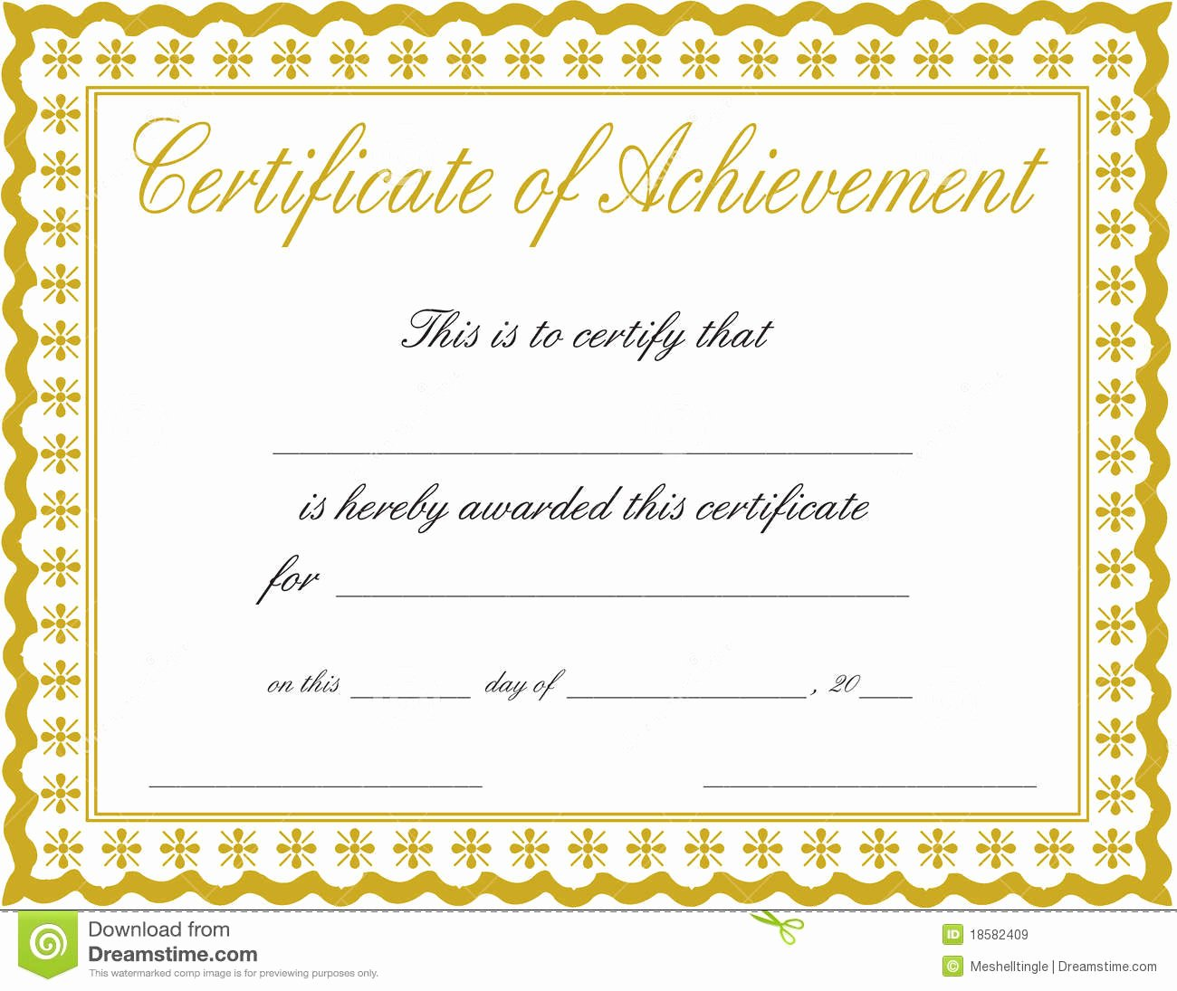 Docx Achievement Certificates Templates Free Certificate